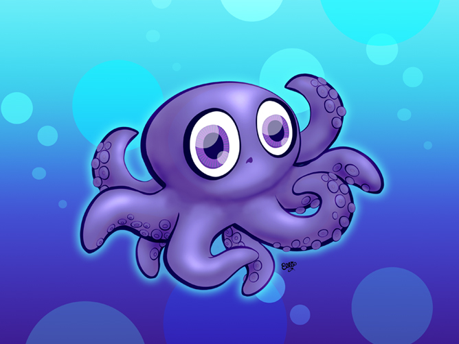 Baby octopus cartoon the image kid has it for Octopus in cartoon