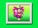 Cartoon Sassy Fairy Framed Art Print by Ellie