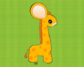 Cartoon Baby Giraffe by Ellie of Inspiring Art