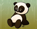 Cartoon Baby Panda by Ellie of Inspiring Art