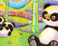 Cartoon Panda Paradise by Ellie of Inspiring Art
