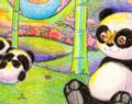 Cartoon Panda Paradise by Ellie of Inspiring Art