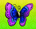 Joyful Butterfly Cartoon by Ellie of Inspiring Art